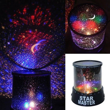 Romantic Kids Gift Sky Star LED Starry Night light Cosmos Master Projector Lamp AP = 1652215876