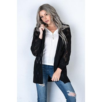 The Carly Cardigan in BLACK