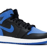 Ready Stock Nike Air Jordan 1 Retro High Og Gs Release Black Varsity Royal Black Basketball Sport Shoes