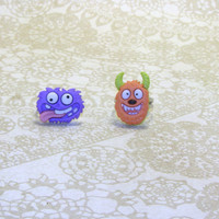 Monster Character Adjustable Ring, Funny Looking Monster Fun Ring, Fun Jewelry
