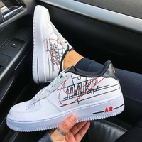 NIKE AIR FORCE 1 '07 3 AF1 Leisure hook shoes