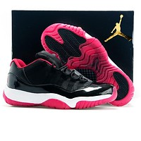 Air Jordan 11 Trending Men Sport Running Basketball Shoes Sneakers Black&Rose Red