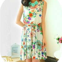 Floral Print Chiffon Dress from Ever