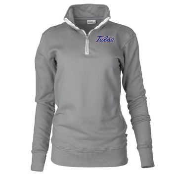 Official NCAA University of Tulsa Golden Hurricane - PPTLS06 Unisex 1/4 Zip Up Fleece Pullover