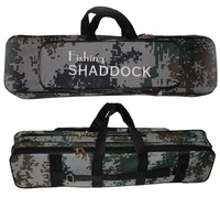 Shaddock Fishing Portable 2 Layer Camouflage Nylon Fishing Bags Fishing Rod Bag Case Fishing Tackle Tools Storage Bag