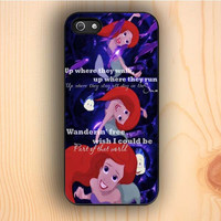 Dream colorful Ariel The Little Mermaid Quote iPhone 5 Case