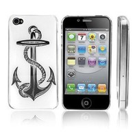 Transparent Snap-On Clear iPhone Cover Case for 4/4S iPhone - Anchor