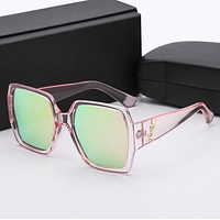 YSL Yves Saint Laurent Popular Women Men Cute Sun Shades Eyeglasses Glasses Sunglasses Pink Laser BI12382-1