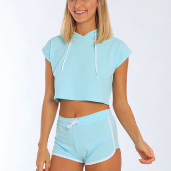 Women's French Terry Cropped Hoodie