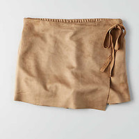 Don't Ask Why Wrap Skort , Brown