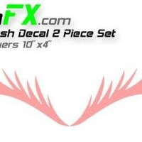 Eyelash Pink Decal Set for VW Mini Coopers Dodge Neon and Others