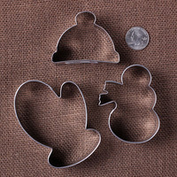Winter Cookie Cutter Set: Snowman Cookie Cutters, Mitten Cookie Cutters, Hat Cookie Cutters, Metal Cookie Cutters, Christmas Cookie Cutters