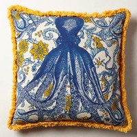 Octopus Garden Pillow by Thomas Paul Multi 22 In. Square Pillows