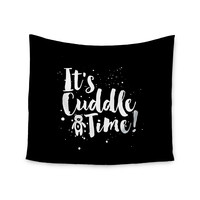 """Nick Atkinson """"Cuddle Time"""" Black White Wall Tapestry"""
