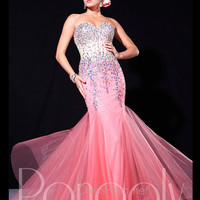 Sweetheart Beaded Corset Mermaid Prom Dress By Panoply 14669