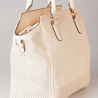 PIERRE PERFORATED SATCHEL
