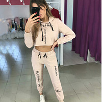 Louis Vuitton x Dior x PRADA Casual Hoodie Top Sweater Pants Trousers Set Two-piece Sportswear