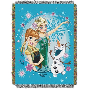 Disney's Frozen Frozen Fever  Woven Tapestry Throw (48inx60in)