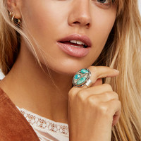 Crushed Stone Oval Ring