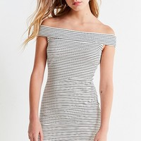 UO Off-The-Shoulder Striped Bodycon Mini Dress | Urban Outfitters