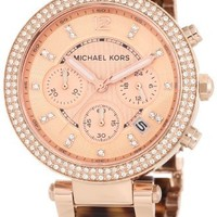 Michael Kors Women's MK5538 Parker Brown Crystal-Accented Watch