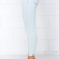 Depths and Shallows Light Wash Ankle Skinny Jeans