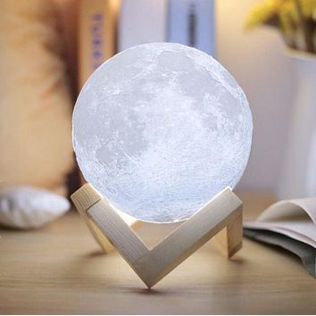 GenZ 3D Magical Moon LED Desk/Table/Night Light USB Rechargeable
