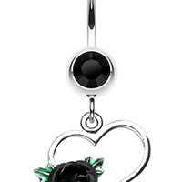 Heart Rose Belly Button Ring