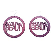 natural beauty earrings (hoop) | Natural hair earrings | Afrocentric | jewelry | accessories
