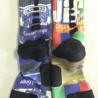 Custom Grape Jelly and Peanut Butter nike elite crew socks