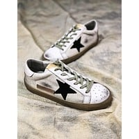 Ggdb Golden Goose Uomo Donna White Black Star G26d121.a6 Old Dirty Shoes