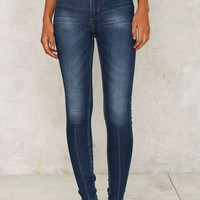 Cheap Monday High Spray Skinny Jeans - True Blue