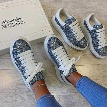 Alexander Mcqueen Casual Little White Shoes-29