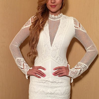 Only You Laced White Dress - FINAL SALE