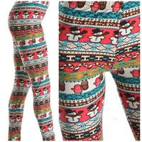 Customized Reindeer Leggings, Snowflake Leggings, Christmas Leggings, Cute Leggings