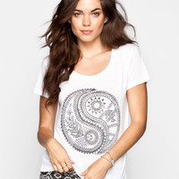 BILLABONG Yin Yang Life Womens Tee 239232150 | Folklore Daze
