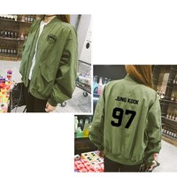 Kpop BTS Baseball  jimin suga baseball uniform Comfortable jacket sweatershirt Army hoodies