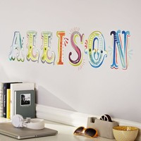 Watercolor Letters Decal