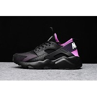 Nike Air Huarache 4 Rainbow Ultra Breathe Women Black purple Running Sport Casual Shoes Sneakers - 919