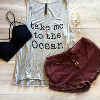 Take Me to the Ocean Tank - Gray