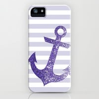 GLITTER ANCHOR IN PURPLE iPhone & iPod Case by colorstudio