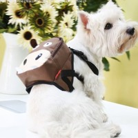 Cute Brown Cattle & Green Frog Dog Bag Dog Backpack Carrier Harness Saddle Bag Size Medium Best Beautiful Good Quality Fast Shipping Ship Worldwide