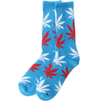 HUF Plantlife Crew Socks (blue / red) Accessories HUFAC3259BRE | PickYourShoes.com