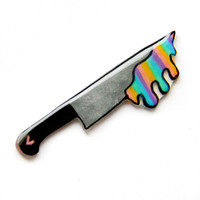 Rainbow Slime Knife Pin