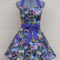 Star Wars Apron - Sexy Comic Strip Vintage- Full of Flounce-Ready to ship