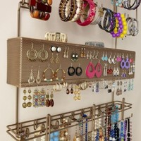 Overdoor Wall Longstem Jewelry Organizer Valet Bronze - Holds over 300 pieces! Unique patented product - Rated Best!