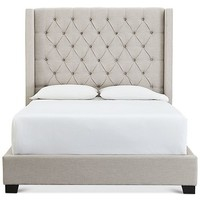Furniture Monroe Upholstered King Bed, Created for Macy's & Reviews - Furniture - Macy's