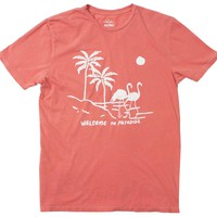 Welcome to Paradise Palm Trees Flamingos Citrus Tee by Altru Apparel
