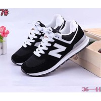 Alwayn New Balance Fashionable Casual All-Match N Words Breathable Couple Sneakers Shoes 7#