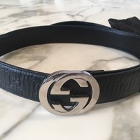 100% auth Gucci GG Signature leather belt RRP £270